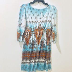 Boho Style Midi Dress